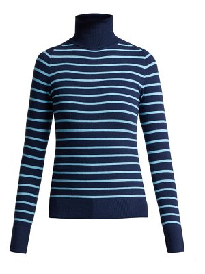 JoosTricot striped cotton blend roll neck sweater