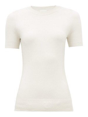 JoosTricot peachskin cotton-blend short-sleeve sweater