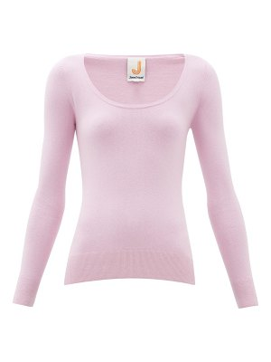 JoosTricot peachskin scoop neck cotton blend sweater