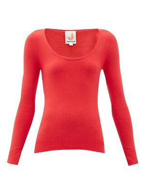 JoosTricot peachskin scoop-neck cotton-blend sweater