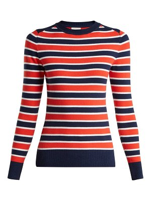 JoosTricot peachskin striped cotton blend sweater
