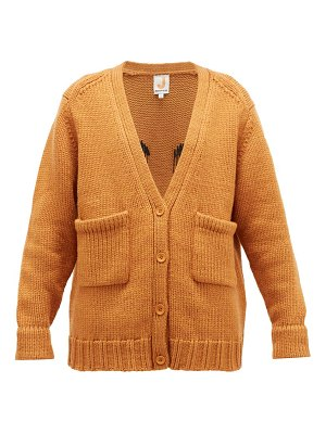 JoosTricot smiley-embroidered wool-blend cardigan