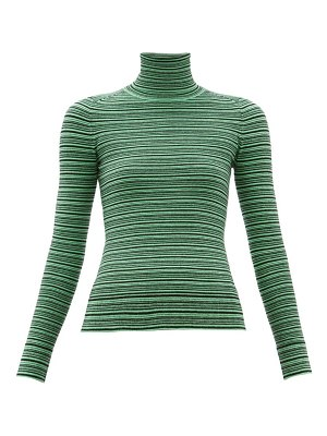 JoosTricot striped roll-neck cotton-blend sweater