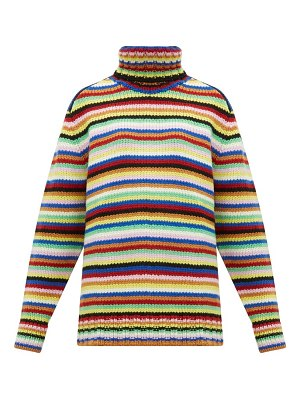 JoosTricot striped roll-neck wool-blend sweater