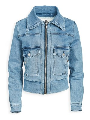 JORDACHE roll collar jacket