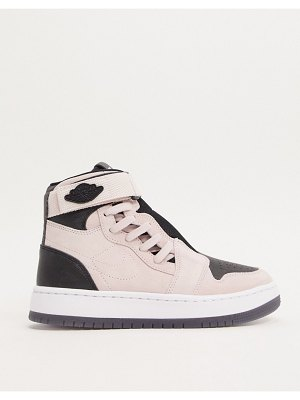 Jordan nike air  1 nova sneakers in pink and black-white