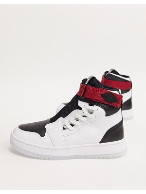 Jordan nike air  1 nova sneakers in white and black