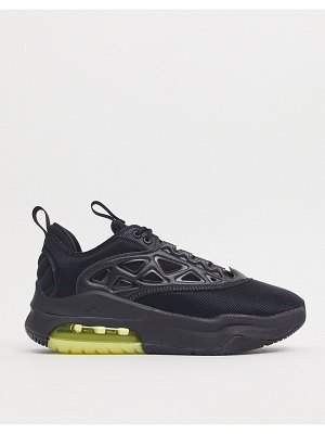 Jordan nike air max 200  sneakers in black and yellow