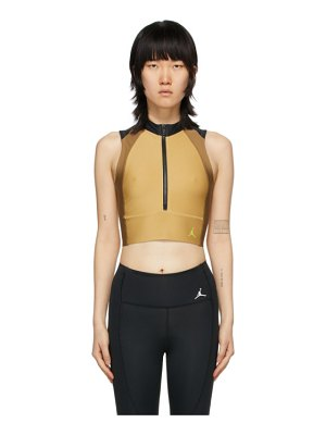 Jordan tan body con tank top