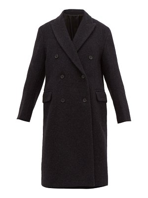 Joseph arles double breasted alpaca & wool overcoat