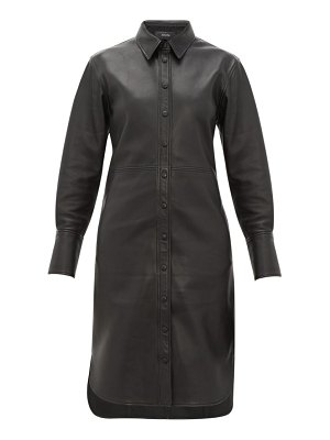 Joseph brann leather shirtdress