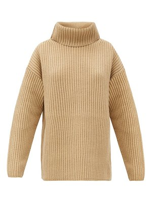 Joseph brioche-stitched wool roll-neck sweater