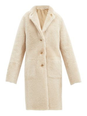 Joseph brittany reversible shearling and leather coat