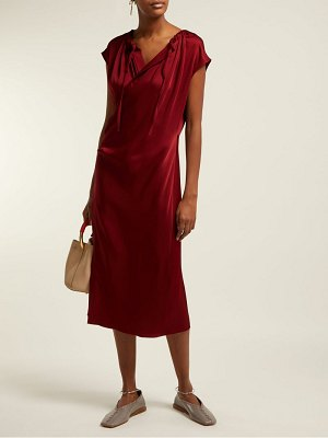 Joseph burgess satin crepe wrap midi dress