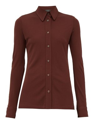 Joseph button down crepe jersey shirt