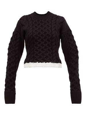 Joseph cable knit wool blend sweater