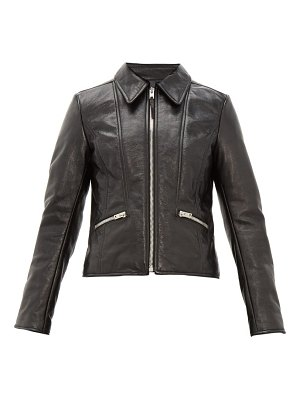 Joseph cadman creased leather jacket