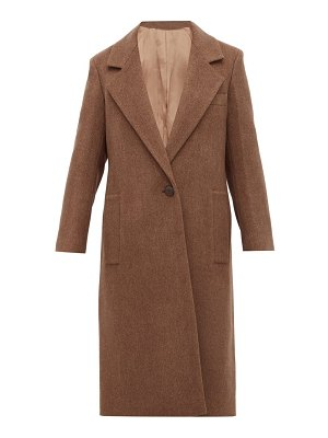 Joseph captain single breasted wool blend coat