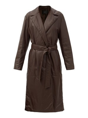 Joseph cola belted padded-leather coat