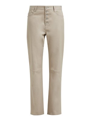 Joseph den high rise leather trousers
