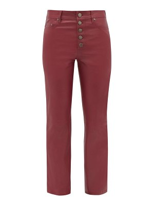 Joseph den straight leg leather trousers