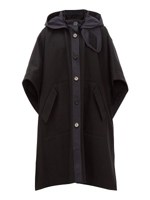 Joseph detachable hood wool blend felt cape