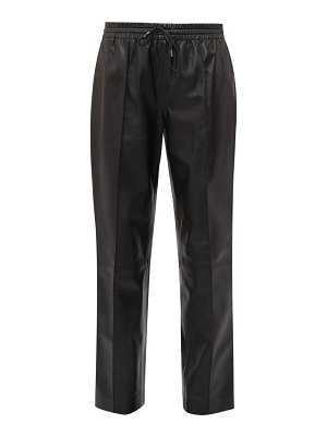 Joseph dino drawstring waist leather trousers