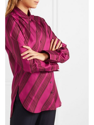 Joseph doy striped silk-satin blouse