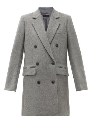 Joseph elkins double breasted wool blend coat