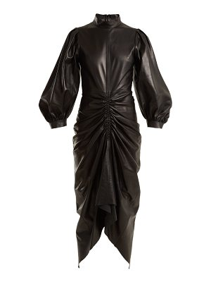 Joseph Fay ruched-leather dress