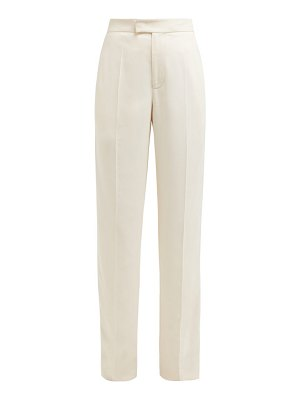 Joseph ferry satin-trimmed wide-leg crepe trousers