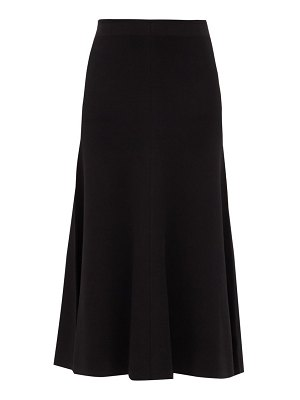 Joseph flared knitted midi skirt