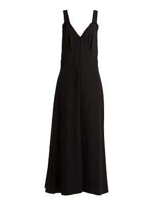 Joseph Greer V Neck Creased Crepe Dress