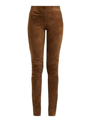 Joseph high rise stretch lambskin leggings