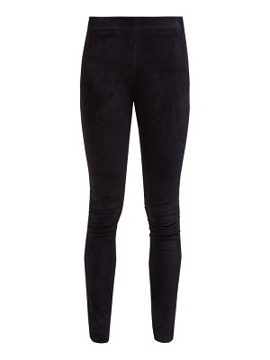 Joseph high rise suede leggings