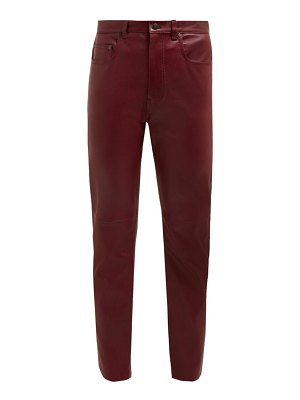 Joseph kemp leather slim leg trousers