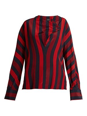 Joseph leigh striped silk blouse