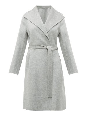 Joseph lima belted double faced wool blend coat