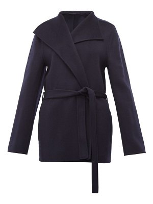Joseph lima belted wool blend coat