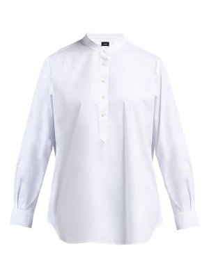 Joseph luke cotton blend poplin shirt