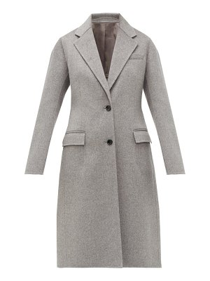 Joseph marly single breasted wool blend coat