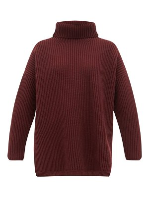 Joseph oversized ribbed merino wool roll neck sweater