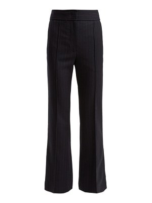 Joseph ridge flared pinstripe wool trousers