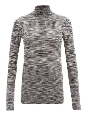 Joseph roll-neck graphic-knit wool top