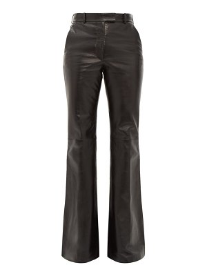 Joseph valmy leather flared trousers