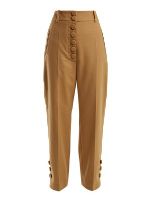 Joseph young buttoned wool and cashmere-blend trousers