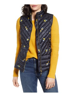 Joules brindley floral quilted vest