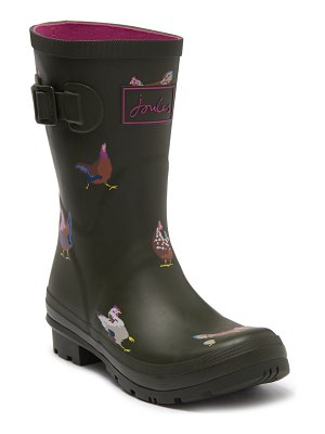 Joules print molly welly rain boot