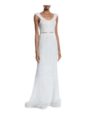 Jovani Sequin V-Back Sleeveless Gown