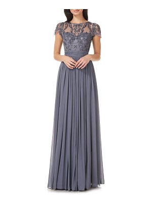 JS Collections bead embellished gown